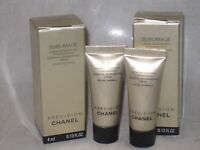 NIB CHANEL SUBLIMAGE ESSENTIAL REGENERATING CREAM 0.13OZ/4G x 2 pcs, TRAVEL SIZE