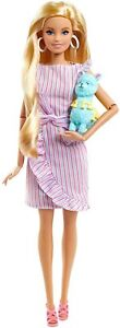 """Barbie Tiny Wishes Doll 11.5"""" Blonde Collectible Doll in Wrap Dress &Accessories"""