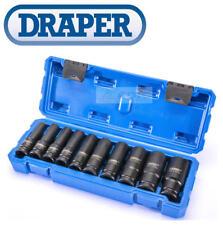 Draper 83096 10 Piezas 1/2 Cuadrado Vasos Hondos Métricos Juego de Llaves