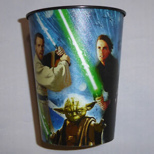 STAR WARS CUP PLASTIC BLACK DARTH VADER OBI WAN DARTH MAUL LUKE SKYWALKER YODA
