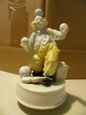 "Vintage Clown Music Box Wind Up ""Can'T Take My Eyes Off You"""