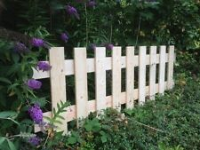 Pk of 3 Flat Top Picket Fence Panels 6ft x 2ft