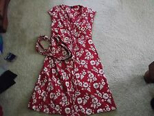 "DUNNES STORES RED WRAP DRESS BUST 34"" NWOT"