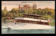 vintage American Boat line Adonis Boldt Castle Thousand Islands Canada postcard