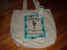 Toppers Beige canvas tote bag Lead Safe Babies NWT! Milestone Celebration 2003
