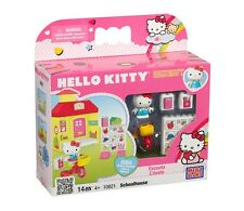 MEGA BLOKs Hello Kitty Set 10821 Schoolhouse tricycle cat girl pink house Cute!