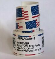 US Flag Forever Coil of 100 Postage Stamps, Stamp Design May Vary (SEALED)