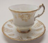 Vintage Paragon Gold White Tea Cup Saucer Fine Bone China England