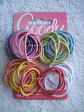 40 Goody Ouchless Thin No Metal Hair Band Elastic Pastel Ponytail Holders White