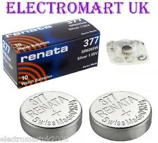 2 X RENATA 377 SR626SW SILVER OXIDE SWISS MADE WATCH BATTERIES 1.55V