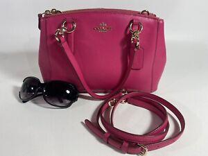 NWOT COACH Mini Christie Carryall Satchel Leather Crossbody (F36704) Fuchsia