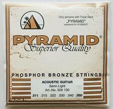 Pyramid Phosphor Bronze Acoustic Guitar Strings gauges 11-50