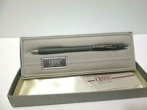 VTG NOS CROSS 2102 GRAY BALLPOINT PEN W/BOX DHL LOGO
