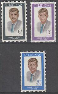 Philippines 1965 #925-27 Pres. John F. Kennedy (1917-1963) - MNH