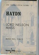 JOSEPH HAYDN Lord Nelson Mass No3 in D Sheet Music Alto Tenor Soprano Bass organ