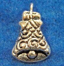 50Pcs. WHOLESALE Tibetan Silver BELL Chistmas Wedding Charms Pendants Q0532