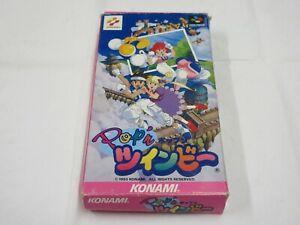 D149 Nintendo Super Famicom Pop'n Twinbee Japan SFC SNES w/box bcx