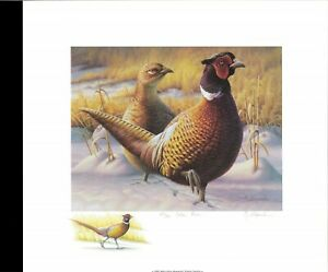 WISCONSIN #1 1992  PHEASANT STAMP PRINT by Greg Alexander, 27/50 color remarque
