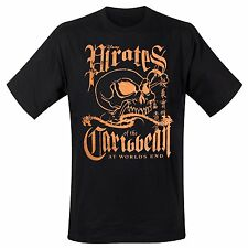 PIRATES OF THE CARIBBEAN  Orange Skull  T-Shirt  Größe Size L  Jack Sparrow