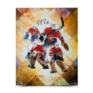 """Patrick Roy Signed Autographed 16X20 Photo """"St. Patrick"""" Montreal Canadiens UDA"""