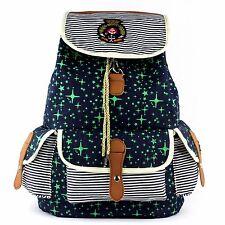 Ladies / Women / Girls Printed Canvas Laptop Backpack Travel Girls college bag