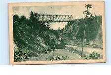*Pont Dion Riviere du Loup Quebec Canada Horse on Bridge Vintage Postcard C32