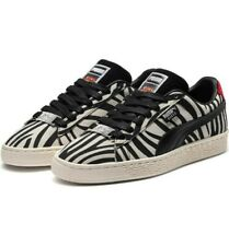 New Puma x Paul Stanley Suede Leather Classic Shoes KISS Zebra Print Rock Sz 9