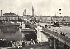 SEINE- MARITIME. Rouen. Le Pont Boieldieu 1900 old antique print picture