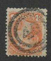 """CANADA #41 USED SMALL QUEEN 2-RING NUMERAL CANCEL """"40"""" (.06)"""