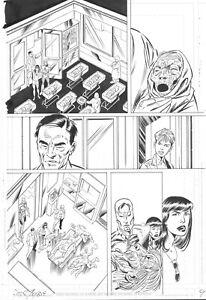 DOOM PATROL # 15 Pg. 10 by JOHN BYRNE! SIGNED! ROBOT MAN & ELASTI-GIRL APPEAR!!