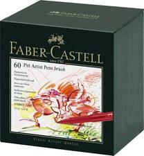 FABER-CASTELL - 60 PITT ARTIST PENS - BRUSH - 60 COLOUR SET
