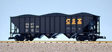 USA Trains G Scale 14011 70 TON 3 BAY COAL HOPPER CSX - Black