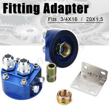 2X Oil Filter Relocation Male Sandwich Fitting Adapter Plate Kit 3/4X16 / 20X1.5