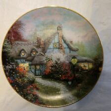 """Thomas Kinkade's Enchanted Cottages """"Sweetheart Cottage"""" Knowles Bradex Plate"""