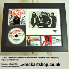 More details for primal scream signed bobby gillespie publicity photo autographed *world