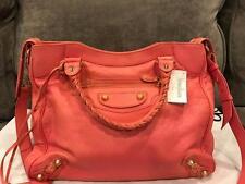 Balenciaga Velo 282010 Giant 12 Gold Agneau Crossbody Bag Rose Azalee $1985