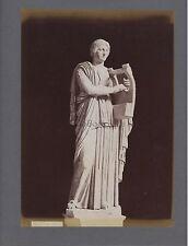 Sculpture gréco-romaine Grèce Italie 2 Photos Vintage albumine ca 1880