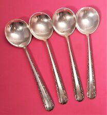 4 TOWLE CANDLELIGHT STERLING SILVER BOUILLON CREAM SOUP SPOONS,140gr,6 3/8""
