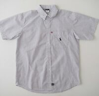 POLO RALPH LAUREN Mens Short Sleeve Button Shirt Size M Blue White Check NWOT