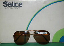 vintage SALICE ANTI-CHOC sunglasses eyewear glass sport skii 80 lens cebe brown