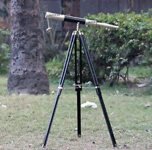 Floor Standing Tripod Home Decor Maritime Navy Brass Telescope spyglass Gift