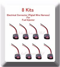 8 Kits Pigtail Connector of Fuel Injector FJ731Fits: Chrrysler Dogde Jeep Ram V8