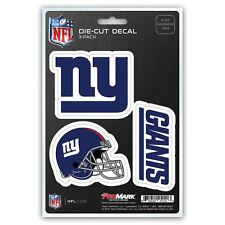 New York Giants NY Auto Decal NFL Pack of 3 Stickers