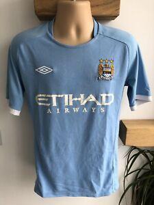 UMBRO Manchester City FC 2010-11 Vintage Home Shirt | Adult 40/Medium | VGC