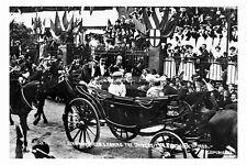 pt1960 - King Edward VII & Queen alexandra at Sheffield - photograph 6x4