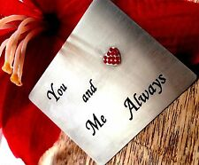 Silver Card Unusual Gifts for him mens her Wallet christmas Love You keepsake