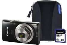 Canon IXUS 185 Camera Kit with 8 GB SD Card and Case - Black