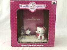 Hello Kitty Winter Holiday Photo Picture Frame 4 x 6 Pink Silver Star Angel New