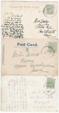 # 1908 x 3 CHICHESTER SKELETON POSTMARKS ON PPCs BOSHAM MILL CYNICUS MARKET X