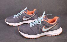 Sb250 nike downshifter 6 zapatillas calzado deportivo talla 38 gris salmón turquesa running